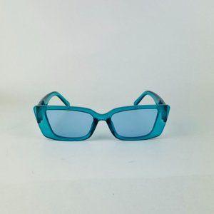 awesome cat eye translucent blue sunglasses